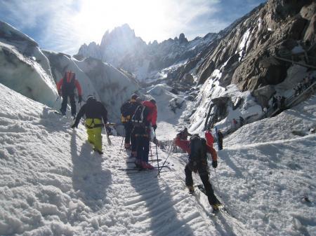 Traversata del Monte Bianco con gli sci