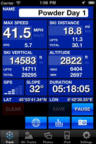 Le migliori app per lo sci: Ski tracks per iPhone