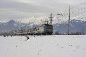 Sciare in valtellina arrivando in  treno