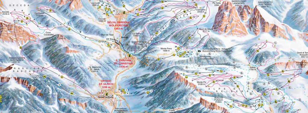Mappa Piste Ortisei