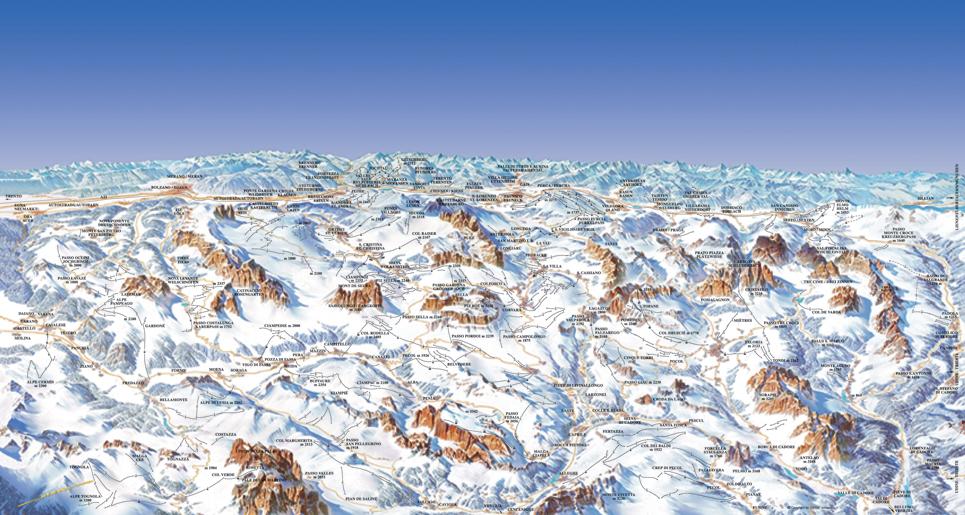 Mappa Dolomiti SuperSki