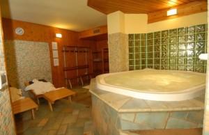 Baita Clementi: l'area benessere per gli ospiti dell'hotel.