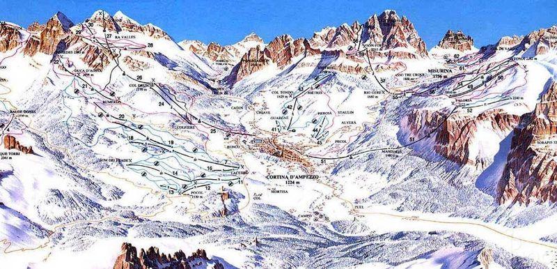 cartina delle piste di Cortina