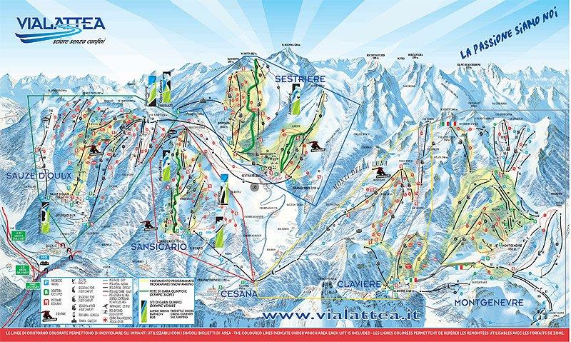 cartina piste San Sicario