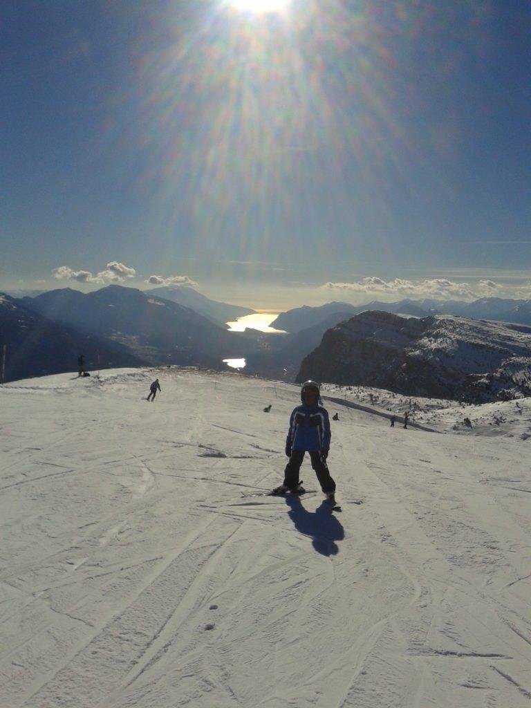 il lago di Garda dalla cima paganella di Andalo