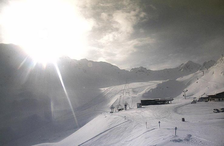 Photo of Panorama dalle piste del ghiacciaio Kaunertaler in Tirolo