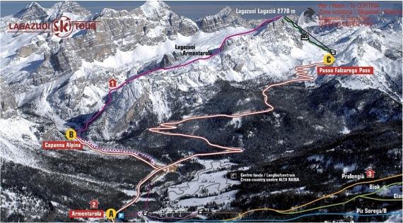 Pista Armentarola- lagazuoi ski tour