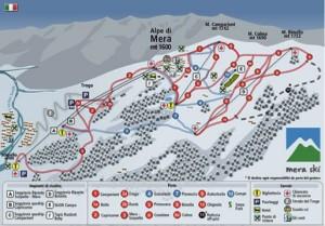mappa piste da sci Alpe di Mera