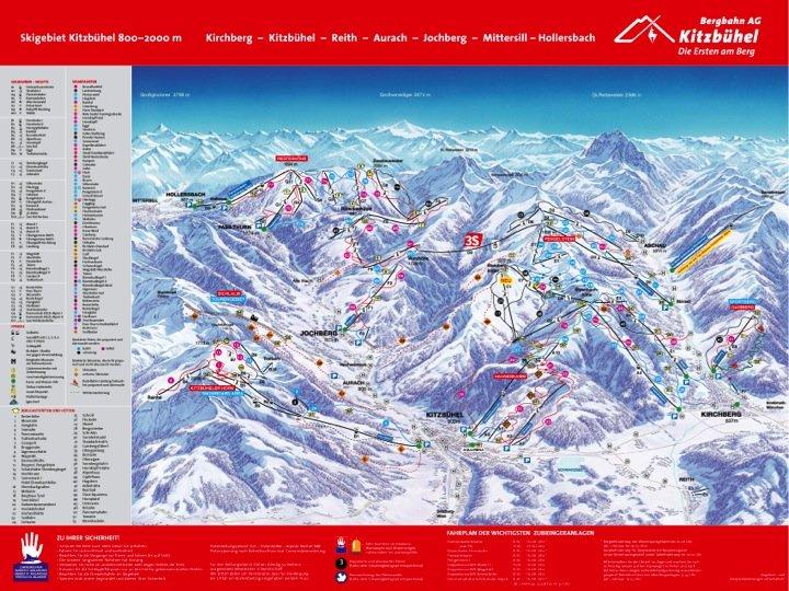 mappa piste kirchberg