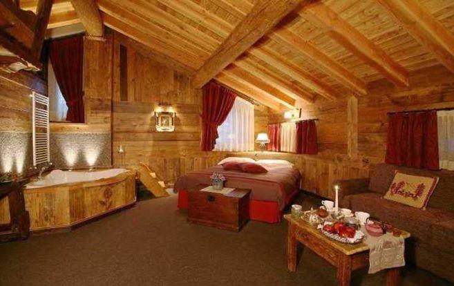 Una camera da letto in uno chalet da favola skimania - Camera da letto da sogno ...
