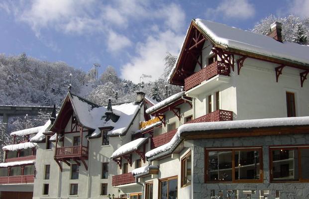 hotel les chalets brides les bains skimania