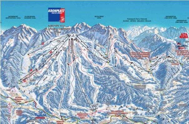 plan de corones piste da sci