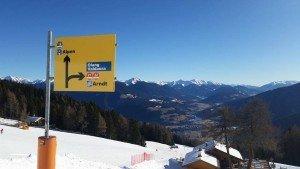 sciare a plan de Corones verso Alpen