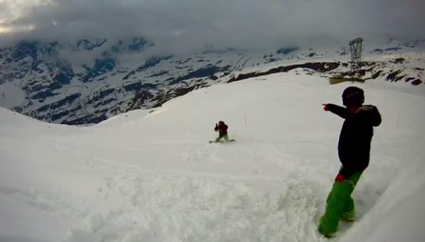 Photo of Skimovie interamente girato a Cervinia: The Cheap Flight Snowboard Movie