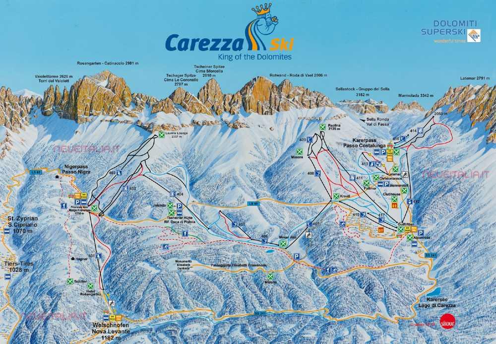 mappa piste ski area carezza (1)