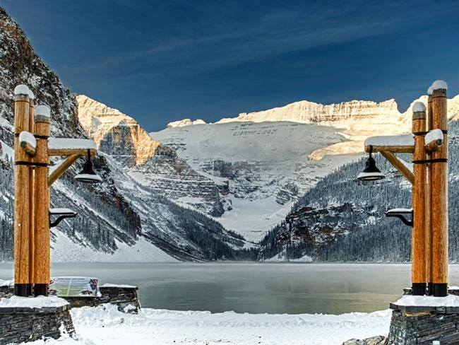 Sciare a Lake Louise in Canada nella Banff Skiarea