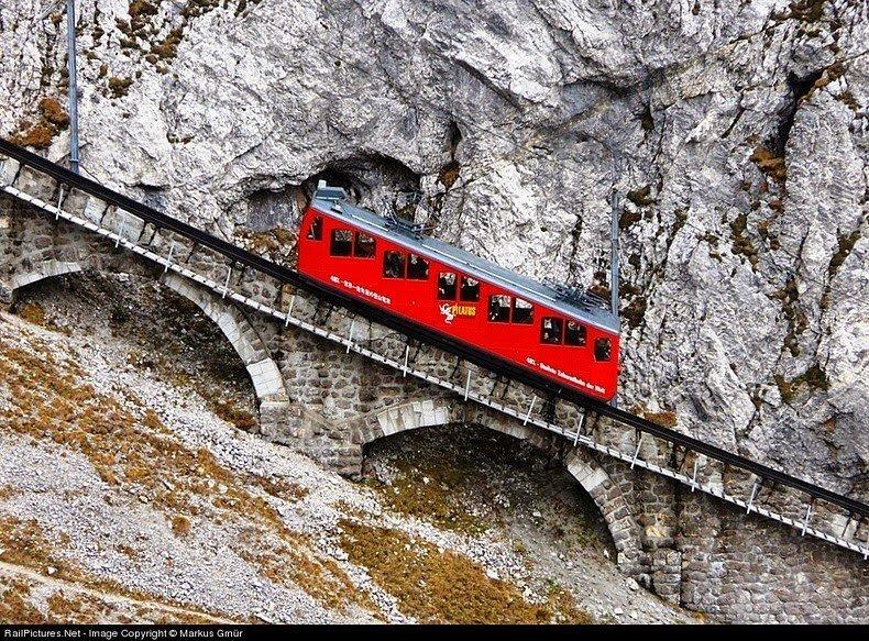 The World's Steepest Cogwheel Railway at Mount Pilatus!!