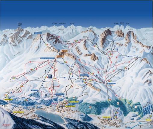 Sciare a Corviglia: mappa piste st moritz corviglia