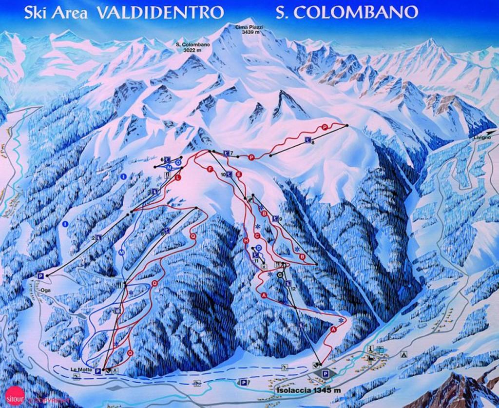 Sciare a Oga San Colombano Valdidentro
