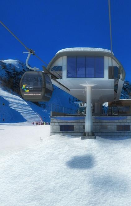 Sciare a Falcade: cabinovia falcade le buse