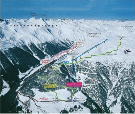 Mappa piste Watles