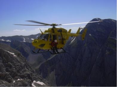 Operazioni di salvataggio in montagna a pagamento