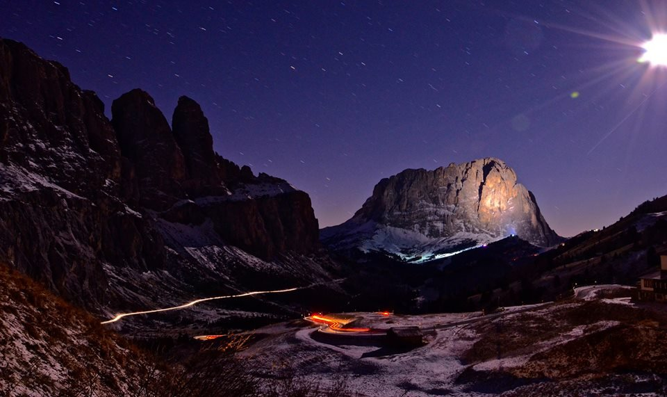 Photo of Passo Sella, foto splendida in notturna