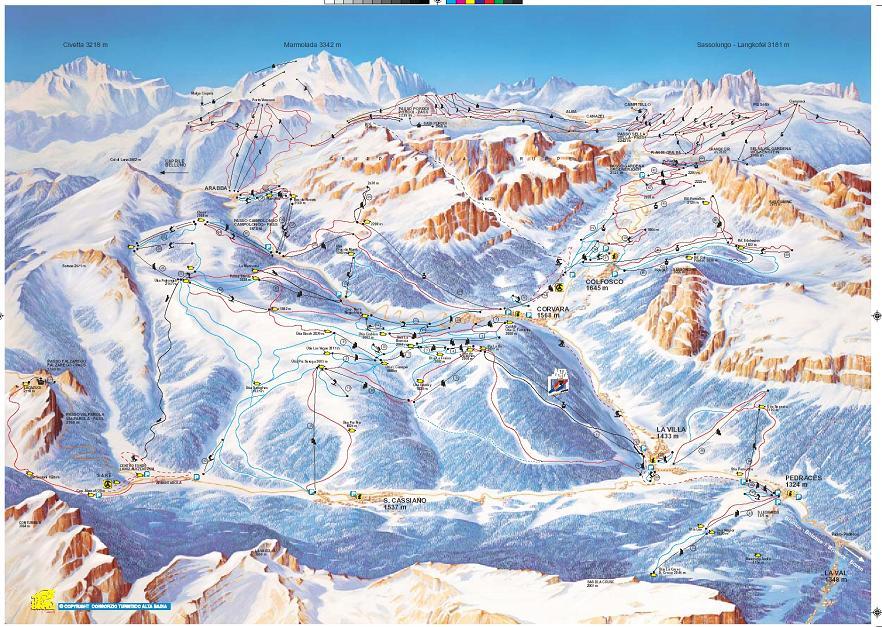 mappa piste Val Badia