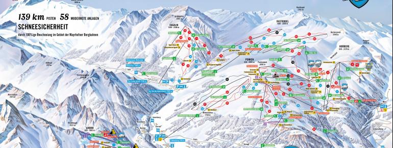 cartina piste Mayrhofen